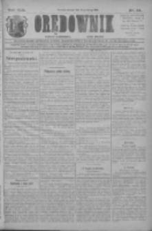 Orędownik: najstarsze ludowe pismo narodowe i katolickie w Wielkopolsce 1912.02.13 R.42 Nr34