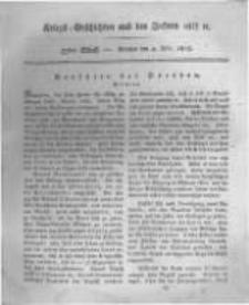 Kriegs-Geschichten aus den Jahren 1812/13 etc. oder Darstellungen und Schilderungen aus den Feldzügen der Franzosen und der verbündeten Truppen... . 1815 Band 3 stück 57