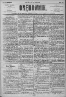 Orędownik: pismo dla spraw politycznych i społecznych 1905.01.10 R.35 Nr7