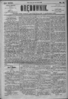 Orędownik: pismo dla spraw politycznych i społecznych 1905.01.20 R.35 Nr16