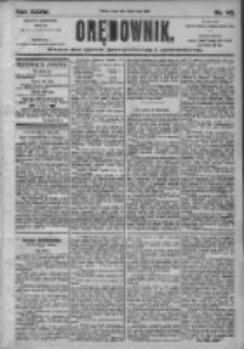 Orędownik: pismo dla spraw politycznych i społecznych 1905.02.24 R.35 Nr45