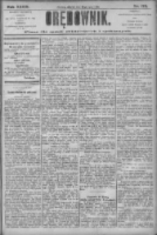 Orędownik: pismo dla spraw politycznych i społecznych 1906.07.31 R.36 Nr172