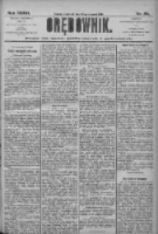 Orędownik: pismo dla spraw politycznych i społecznych 1906.08.23 R.36 Nr191