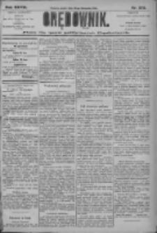 Orędownik: pismo dla spraw politycznych i społecznych 1906.11.30 R.36 Nr273