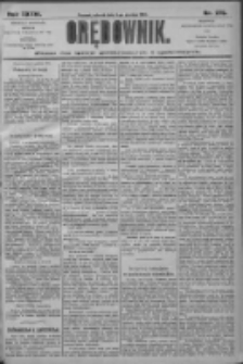Orędownik: pismo dla spraw politycznych i społecznych 1906.12.04 R.36 Nr276