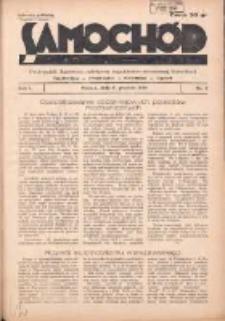 Samochód, Motocykl, Samolot: dwutygodnik ilustrowany poświęcony zagadnieniom nowoczesnej komunikacji 1934.12.15 R.1 Nr7