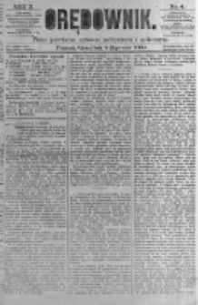 Orędownik: pismo poświęcone sprawom politycznym i spółecznym. 1880.01.08 R.10 nr4