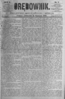 Orędownik: pismo poświęcone sprawom politycznym i spółecznym. 1880.01.15 R.10 nr7