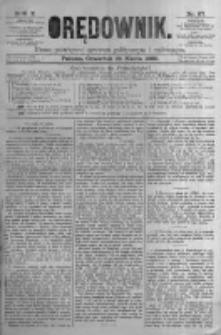 Orędownik: pismo poświęcone sprawom politycznym i spółecznym. 1880.03.25 R.10 nr37