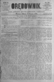 Orędownik: pismo poświęcone sprawom politycznym i spółecznym. 1880.03.27 R.10 nr38