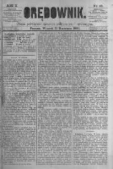 Orędownik: pismo poświęcone sprawom politycznym i spółecznym. 1880.04.13 R.10 nr45