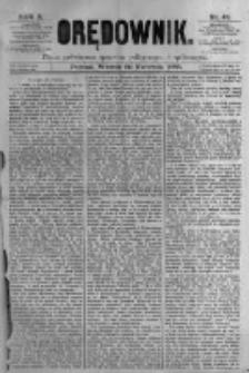 Orędownik: pismo poświęcone sprawom politycznym i spółecznym. 1880.04.20 R.10 nr48
