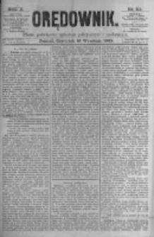 Orędownik: pismo poświęcone sprawom politycznym i spółecznym. 1880.09.16 R.10 nr111