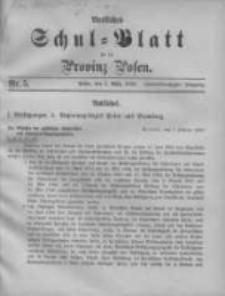 Amtliches Schul-Blatt für die Provinz Posen 1899.03.05 Jg.32 Nr5