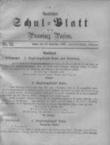 Amtliches Schul-Blatt für die Provinz Posen 1899.11.20 Jg.32 Nr22