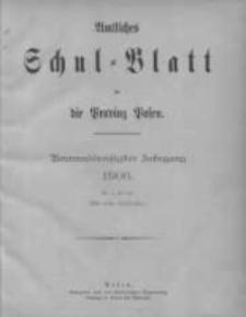 Amtliches Schul-Blatt für die Provinz Posen 1906.01.05 Jg.39 Nr1
