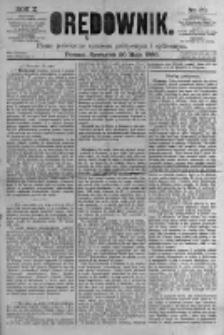 Orędownik: pismo poświęcone sprawom politycznym i spółecznym. 1880.05.20 R.10 nr60