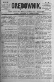 Orędownik: pismo poświęcone sprawom politycznym i spółecznym. 1880.06.24 R.10 nr75