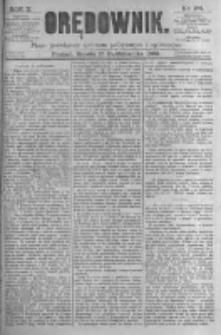Orędownik: pismo poświęcone sprawom politycznym i spółecznym. 1880.10.16 R.10 nr124