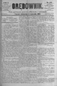 Orędownik: pismo poświęcone sprawom politycznym i spółecznym. 1880.11.04 R.10 nr132