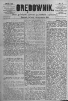 Orędownik: pismo poświęcone sprawom politycznym i spółecznym. 1881.01.15 R.11 nr7