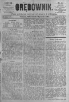 Orędownik: pismo poświęcone sprawom politycznym i spółecznym. 1881.01.25 R.11 nr11