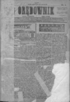 Orędownik: najstarsze ludowe pismo narodowe i katolickie w Wielkopolsce 1911.01.01 R.41 Nr1