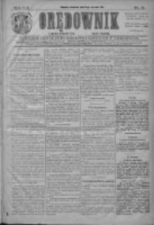 Orędownik: najstarsze ludowe pismo narodowe i katolickie w Wielkopolsce 1911.01.08 R.41 Nr6