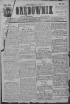 Orędownik: najstarsze ludowe pismo narodowe i katolickie w Wielkopolsce 1911.01.27 R.41 Nr22