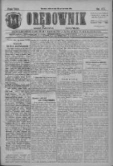 Orędownik: najstarsze ludowe pismo narodowe i katolickie w Wielkopolsce 1911.04.15 R.41 Nr87