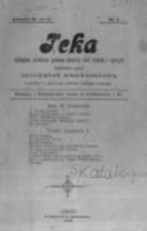 Teka: czasopismo poświęcone sprawom młodzieży szkół średnich i wyższych wydawane przez młodzież akademicką. 1900 R.2 nr1