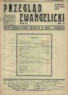 Przegląd Ewangelicki: organ ewangelizmu polskiego w kraju i zagranicą 1938.12.25 R.5 Nr52