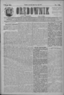 Orędownik: najstarsze ludowe pismo narodowe i katolickie w Wielkopolsce 1911.07.27 R.41 Nr169