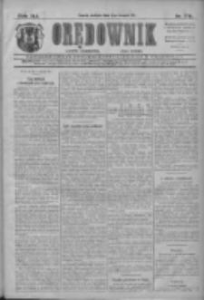 Orędownik: najstarsze ludowe pismo narodowe i katolickie w Wielkopolsce 1911.08.06 R.41 Nr178