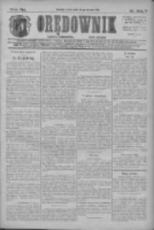 Orędownik: najstarsze ludowe pismo narodowe i katolickie w Wielkopolsce 1911.08.26 R.41 Nr194
