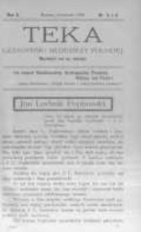 Teka: czasopismo młodzieży polskiej. 1908 R.10 nr3-4