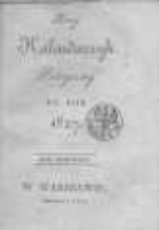 Nowy Kalendarzyk Polityczny na Rok 1827