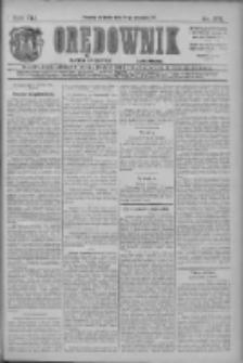 Orędownik: najstarsze ludowe pismo narodowe i katolickie w Wielkopolsce 1911.09.24 R.41 Nr218