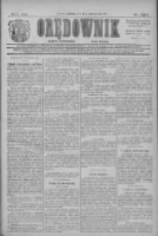 Orędownik: najstarsze ludowe pismo narodowe i katolickie w Wielkopolsce 1911.10.08 R.41 Nr230