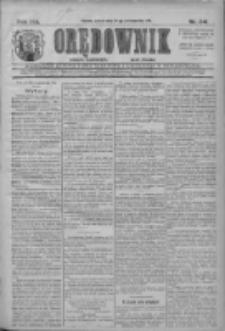 Orędownik: najstarsze ludowe pismo narodowe i katolickie w Wielkopolsce 1911.10.21 R.41 Nr241