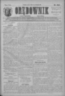 Orędownik: najstarsze ludowe pismo narodowe i katolickie w Wielkopolsce 1911.11.15 R.41 Nr260