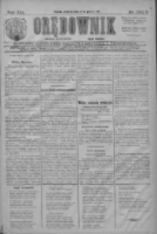 Orędownik: najstarsze ludowe pismo narodowe i katolickie w Wielkopolsce 1911.12.24 R.41 Nr293