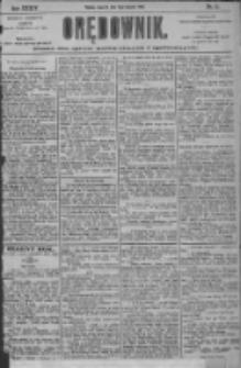 Orędownik: pismo dla spraw politycznych i społecznych 1904.01.14 R.34 Nr10
