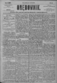 Orędownik: pismo dla spraw politycznych i społecznych 1904.02.27 R.34 Nr47