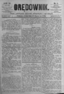 Orędownik: pismo poświęcone sprawom politycznym i spółecznym. 1881.01.13 R.11 nr6