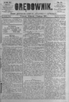 Orędownik: pismo poświęcone sprawom politycznym i spółecznym. 1881.02.01 R.11 nr14