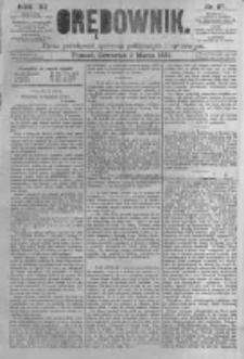 Orędownik: pismo poświęcone sprawom politycznym i spółecznym. 1881.03.03 R.11 nr27