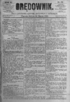 Orędownik: pismo poświęcone sprawom politycznym i spółecznym. 1881.03.26 R.11 nr37