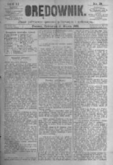 Orędownik: pismo poświęcone sprawom politycznym i spółecznym. 1881.03.31 R.11 nr39