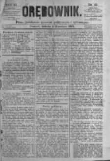 Orędownik: pismo poświęcone sprawom politycznym i spółecznym. 1881.04.09 R.11 nr43